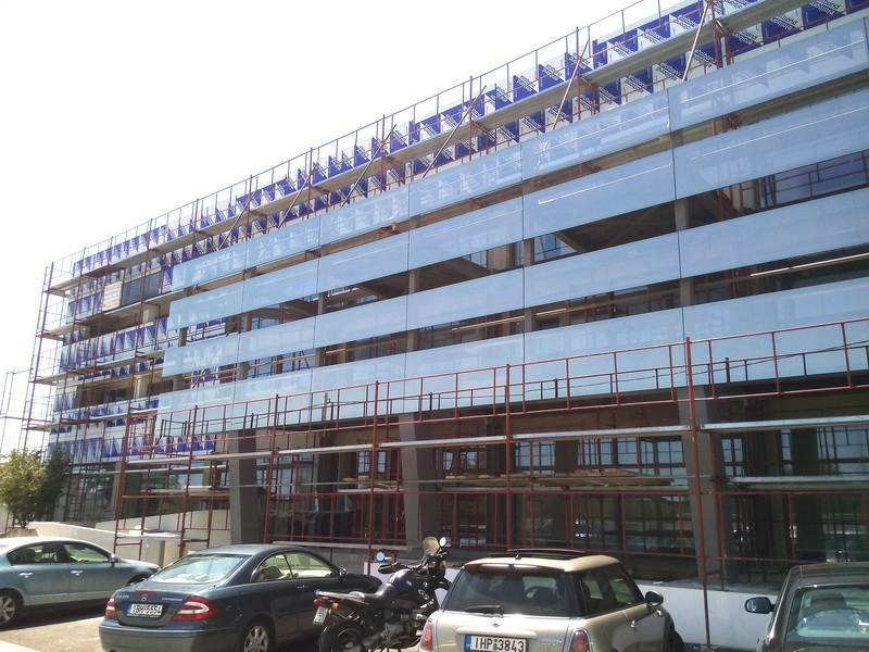Office & Warehouse Complex, Peania, Athens-Steel structure, Construction phases
