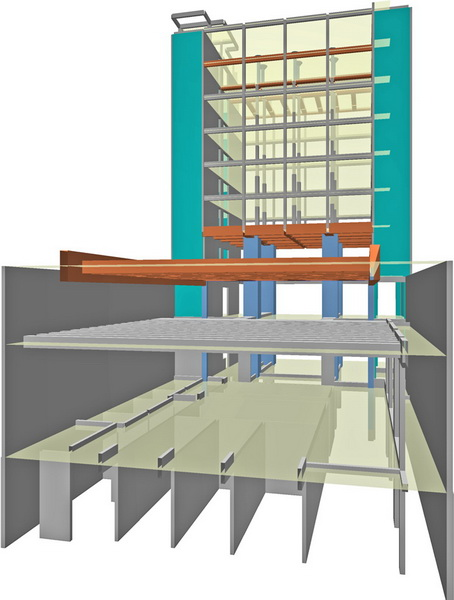 Goethe Institute, Athens-Strengthening with adhesively bonded steel plates and stripes, Strengthening of concrete beams using carbon laminates, Strengthening of short columns, Strengthening concrete flat slabs against punching shear using steel head, HPC jacket, Steel jacket