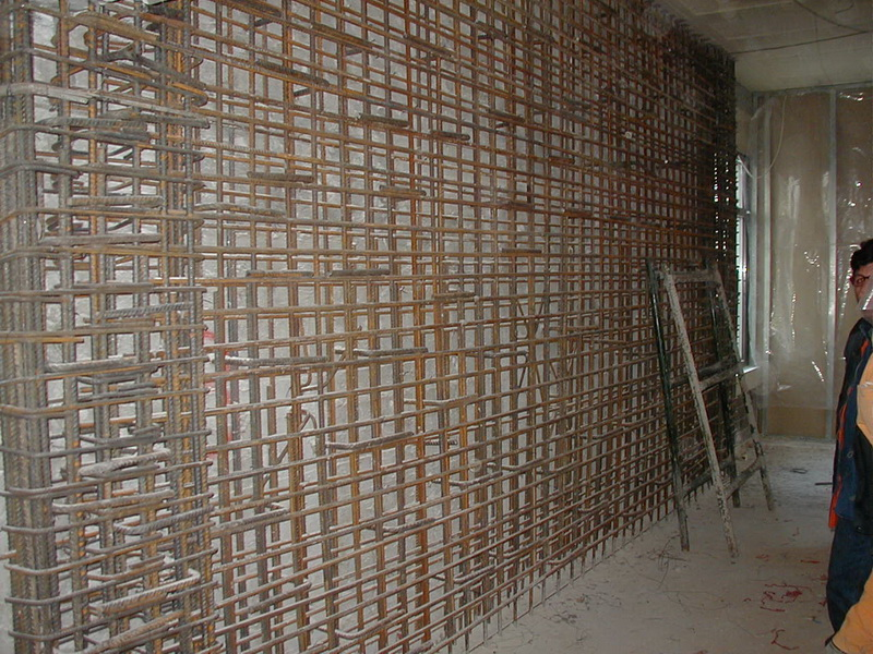 School in Athens, Main Building-Strengthening with new shear walls and cores, Construction phases