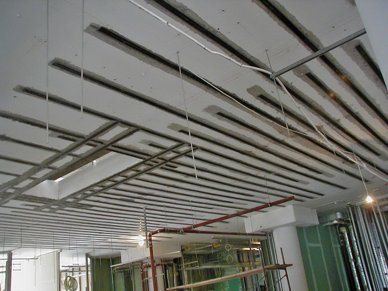 Hospital in Elefsis, Athens-Strengthening of slabs using carbon laminates