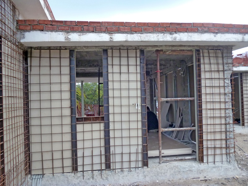 Composite Steel construction with gunite, Construction phases