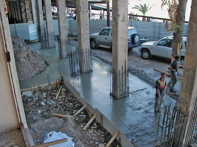 Palirroia Hotel, Chalkis-Strengthening of foundation