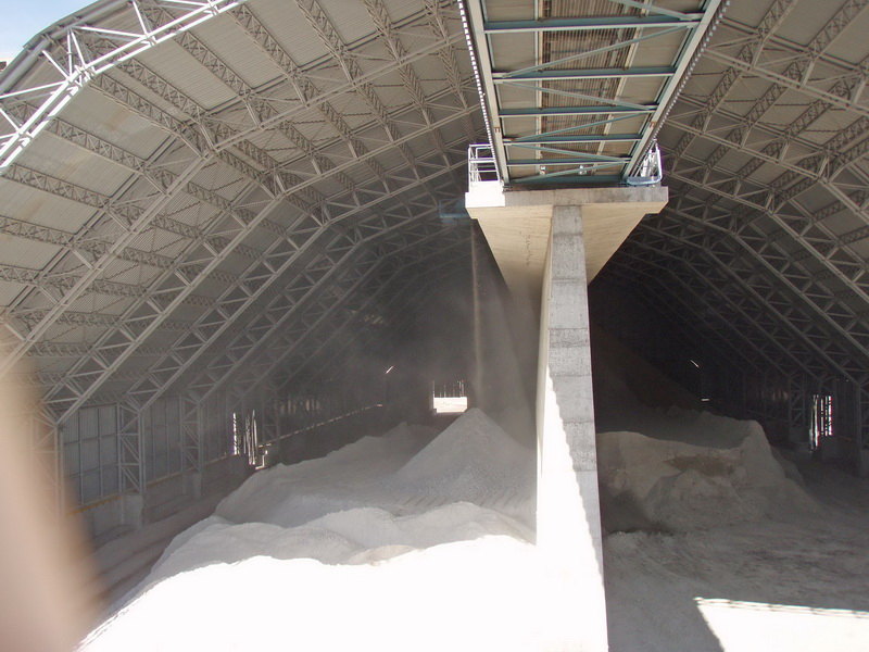 Cement Additives Storage 60.000 tn, AGET Heracles Chalkis Plant-Steel trusses with long spans, Retaining Wall