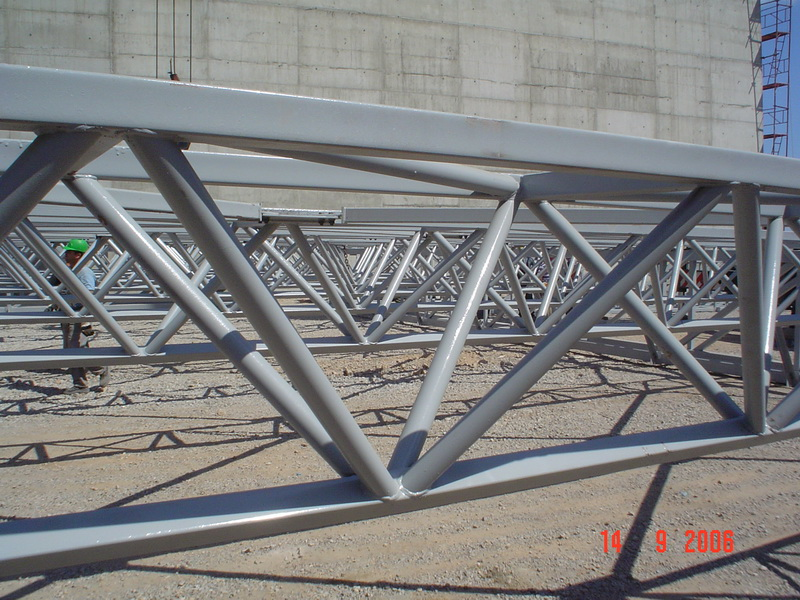 Cement Additives Storage 60.000 tn, AGET Heracles Chalkis Plant-Steel bracings
