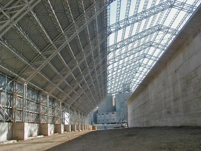 Cement Additives Storage 60.000 tn, AGET Heracles Chalkis Plant-Steel trusses with long spans, Steel bracings, Construction phases