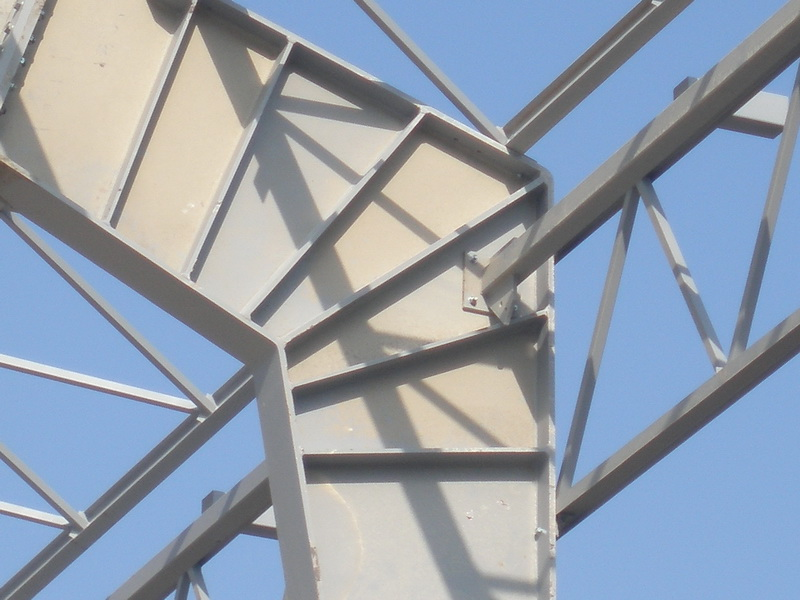 Cement Additives Storage 40.000 tn, AGET Heracles Volos Plant-Steel frames with long spans, Construction phases
