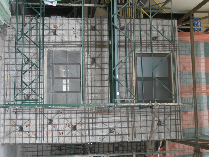 Cement Distribution Center AGET Heracles, Rio, Peloponnese-Gunite jacket, Construction phases