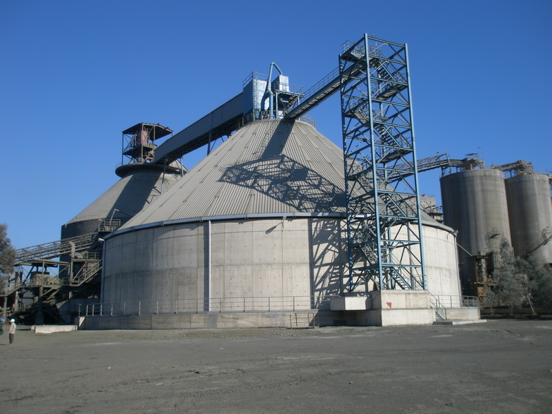 Clinker Silo 25.000 tn, AGET Heracles Milaki Plant-Steel structure, Construction phases