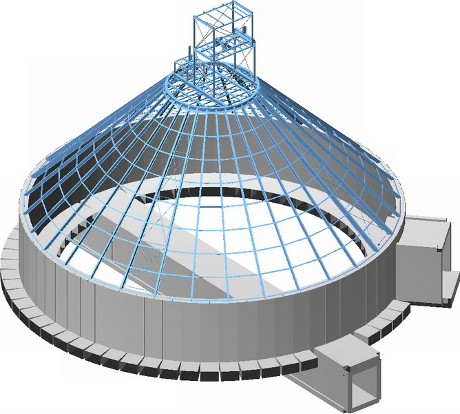 Clinker Silo 25.000 tn, AGET Heracles Milaki Plant-Earthquake analysis building model, Foundation of shear walls and cores, Steel structure