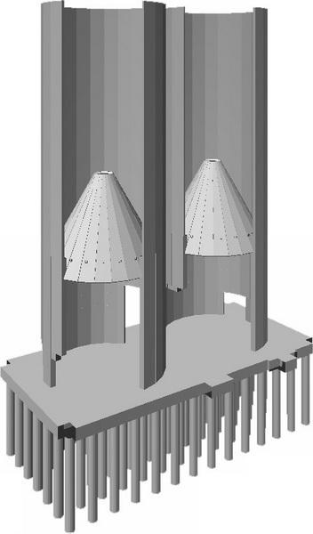 HCC Cement Plant, Sharjah, U.A.E.-Cement Silos-Analysis model