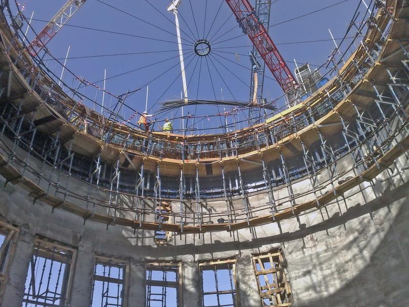 HCC Cement Plant, Sharjah, U.A.E.-Cement Silos-Sliding formwork, Construction phases
