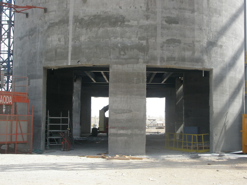 HCC Cement Plant, Sharjah, U.A.E.-Cement Silos-Construction phases