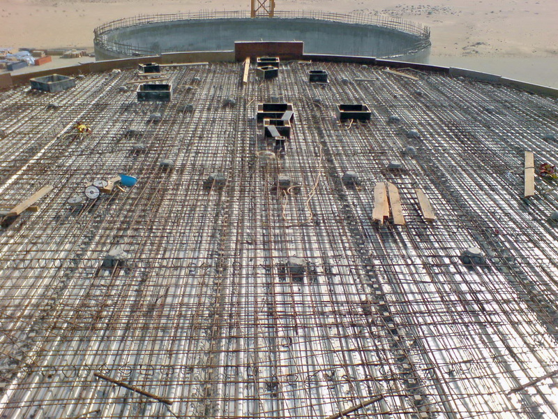 HCC Cement Plant, Sharjah, U.A.E.-Cement Silos-Steel concrete composite slabs, Construction phases