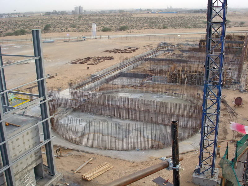 HCC Cement Plant, Sharjah, U.A.E.-Clinker silo-Piled raft foundation