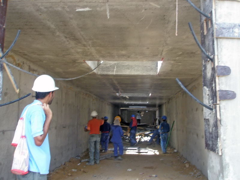 HCC Cement Plant, Sharjah, U.A.E.-Clinker silo-Piled raft foundation
