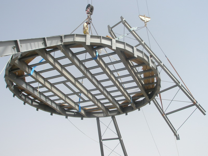 HCC Cement Plant, Sharjah, U.A.E.-Clinker silo-Steel structure, Construction phases
