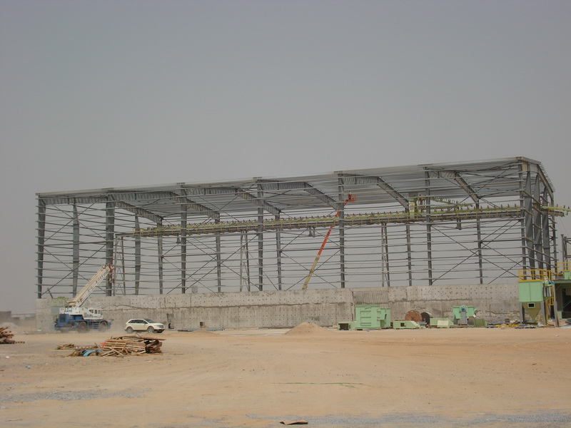 HCC Cement Plant, Sharjah, U.A.E.-Raw material shed-Steel structure
