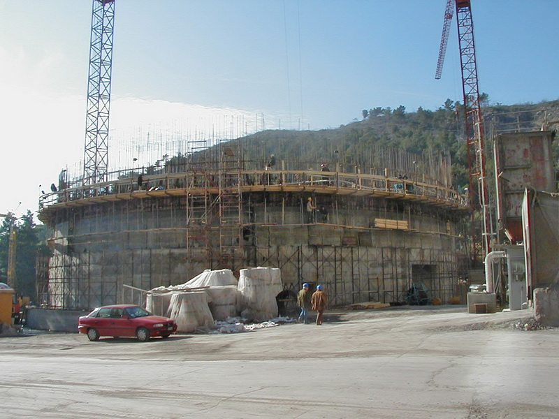 Clinker Silo 60.000 tn, Post-Tensioned, AGET Heracles Volos Plant-Sliding formwork, Construction phases