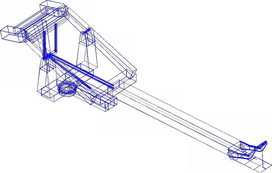 Pumice Loading Crane, Nisyros Isle-Analysis model