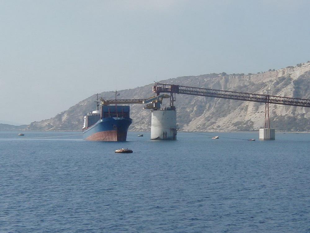 Pumice Loading Crane, Nisyros Isle