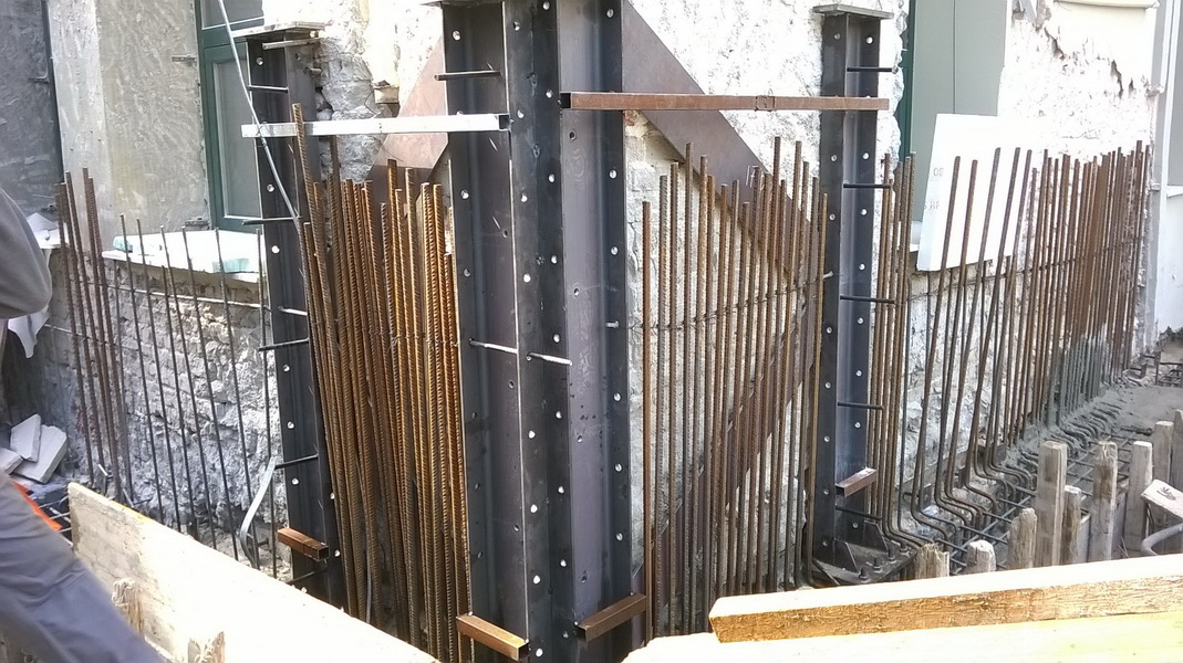 Goethe Institute, Thessaloniki, Building A-Composite Steel construction with gunite