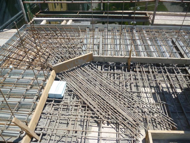 Goethe Institute, Thessaloniki, Building A-Steel concrete composite slabs