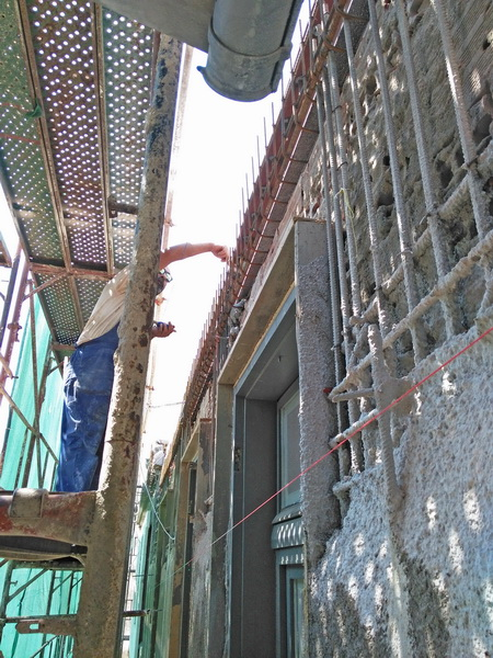 Goethe Institute, Thessaloniki, Building C-Gunite jacket, Reinforced masonry