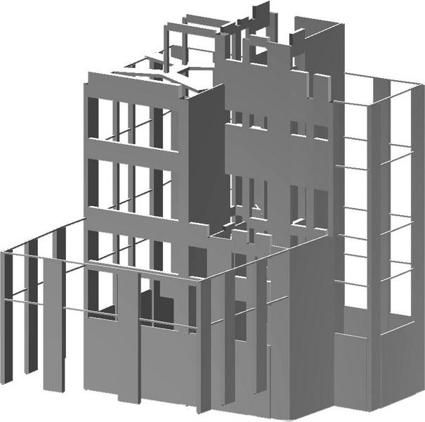 Listed Building, Aeolou, Athens-Earthquake analysis building model