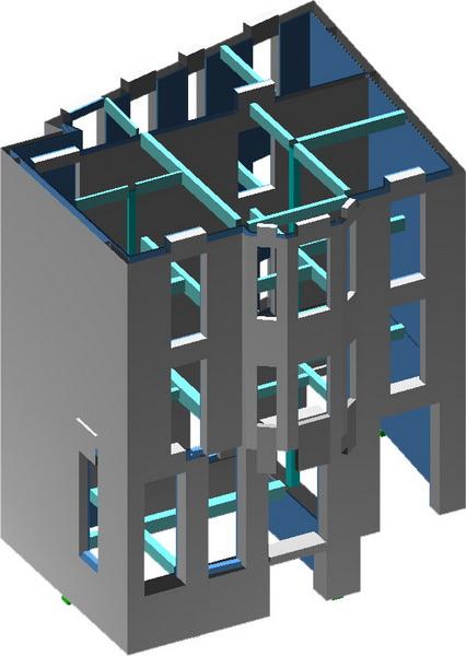 Listed Building, Emm Mpenaki, Athens-Earthquake analysis building model, HPC jacket