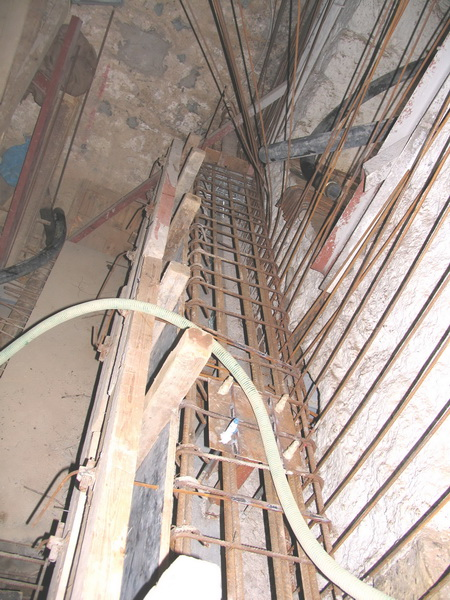 Listed Building, Eressou, Athens-Strengthening of foundation, Chemical anchoring
