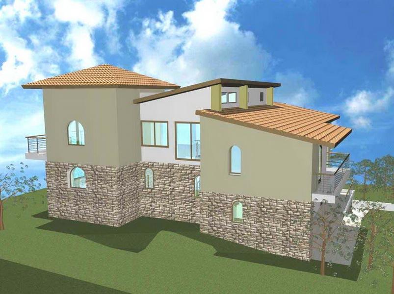 Family House, Anemonis, Dionysos, Athens-Gunite jacket, Composite Steel construction with gunite