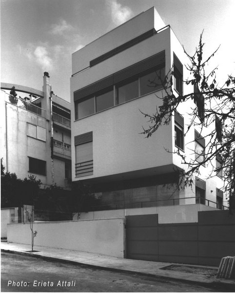 Houses of Minimal Design-Two Family House, Papagou, Athens-Big walls with openings