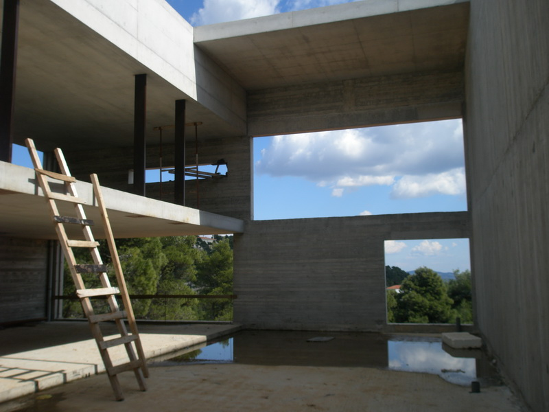 Two Family House, Ippokrateios Politeia, Athens-Suspended slabs using steel profiles, Big walls with openings
