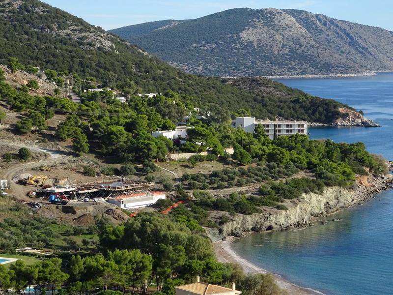 Villa in Ermioni, Peloponnese-Flat slab, Post tensioned reinforced concrete slabs
