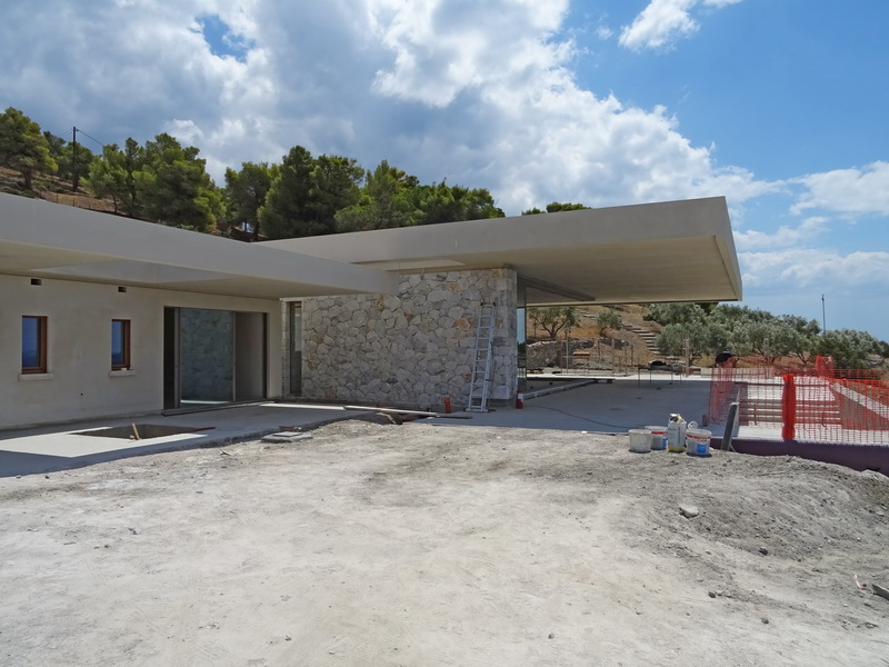 Villa in Ermioni, Peloponnese-Flat slab, Post tensioned