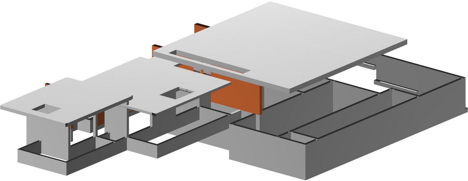 Villa in Ermioni, Peloponnese-Flat slab, Post tensioned reinforced concrete slabs, Earthquake analysis building model