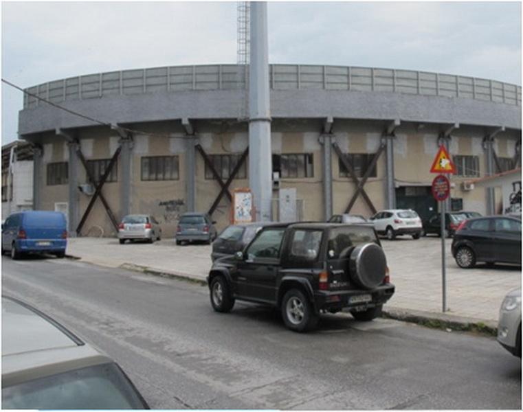 Football Stadium, Serres-Steel bracings