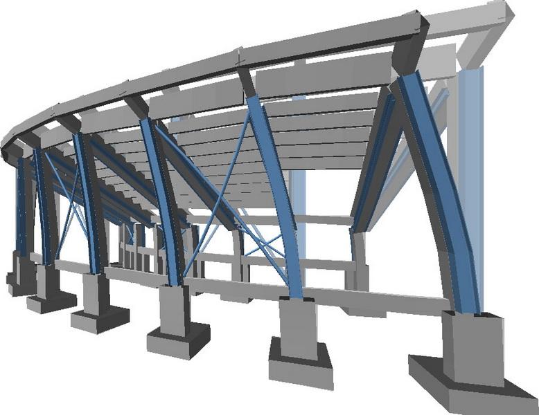 Football Stadium, Serres-Earthquake analysis building model, Deformation of building under earthquake