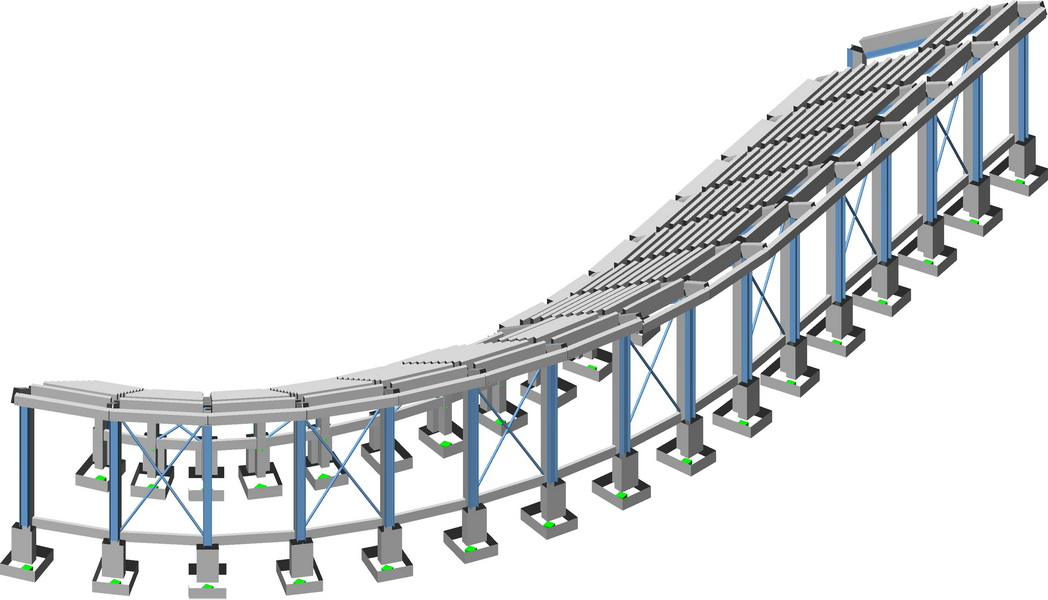 Earthquake analysis building model, Steel bracings, Strengthening by steel composite method