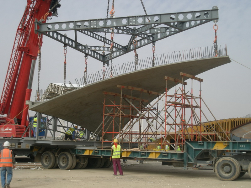 Amman International Airport, Queen Alia -  Prefabrication using high performance concrete -  Construction phases