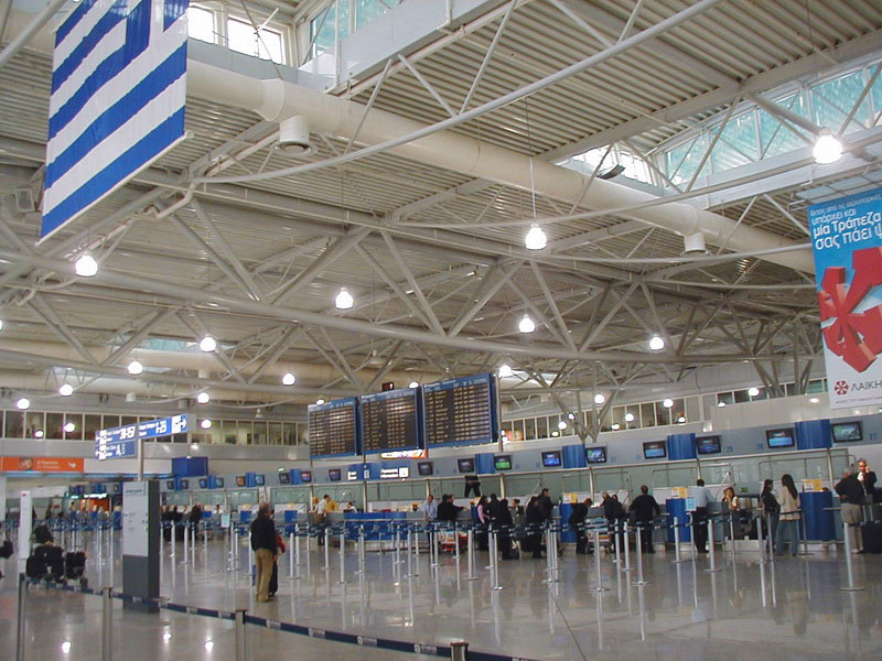 Athens International Airport, El. Venizelos - Seismic dampers against earthquake, Connection of buildings against pounding