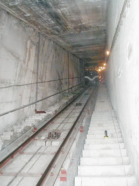 Cable Car Tunnel, Lycabettus Hill, Athens - Gunite jacket