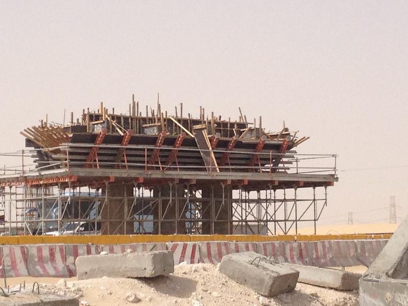 Rail Over - Precast Bridge of 2x33m Spans, Saudi Arabia - Erection of the structure