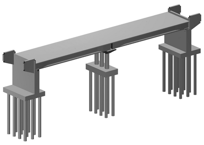 Rail Over - Precast Bridge of 2x33m Spans, Saudi Arabia - analysis building model