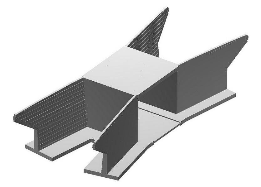 Rail Under - Box Bridge 16m Span, 15m Long, Saudi Arabia - analysis building model