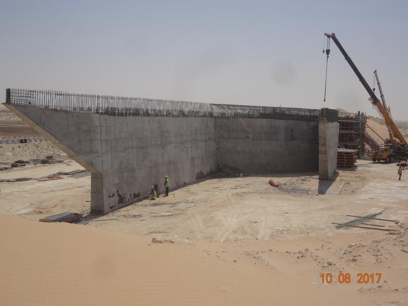 Rail Under – Box Bridge 16m Span, 20m Long, Saudi Arabia - Integral bridge, Erection of the structure